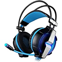 Auoker Gaming Headset 7.1 Channel USB Surround Stereo PC Gaming Headset Headphones With Mic Enhanced Bass LED... - B01H6X8VUE