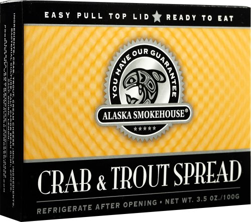 Alaska Smokehouse Crab & Trout Spread Checker Design, 3.5 Ounce Boxes (Pack of 6)