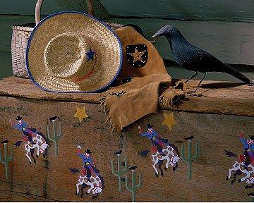 Wallies 12936 Olive Kids Ride'm Wallpaper Cutout - 1
