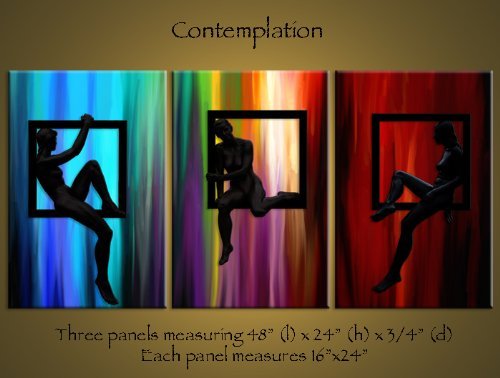 Contemplation Beautiful Digital Art Painting on Canvas Giclee