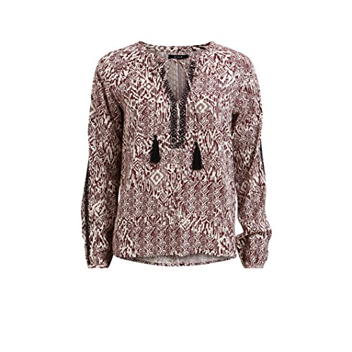 VILA CLOTHES Vietno L/S Top, Maglia a Maniche Lunghe Donna, Multicolore (Tawny Port), S