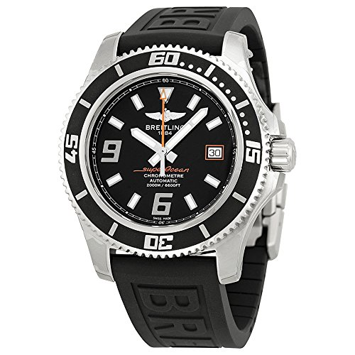 Breitling Superocean 44 Black Dial Black Rubber Mens Watch A1739102-BA80BKPD3