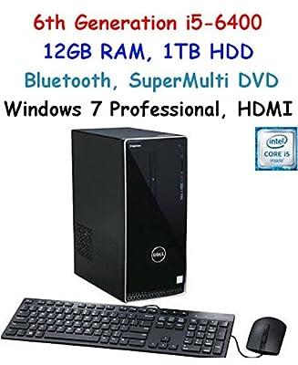 Newest Flagship Model Dell Inspiron i3650 Premium Performance Desktop, Intel Core i5-6400, 12GB RAM, 1TB HDD, Bluetooth, HDMI, Windows 7 Pro