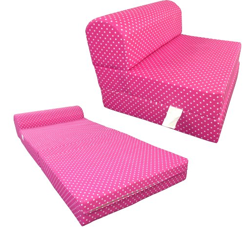 Pink White Dots Twin Size Chair Fold Foam bed 1.8Lb Density Sofa Beds 6x32x70 2 pair universal car 3d style disc brake caliper covers front rear
