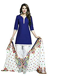 Neerja creation womens cotton Unstiched Dress material(K-2011_Blue)