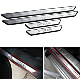 GOOACC®Stainless Steel Door Sill Scuff Plate Trim For 2012 Nissan x-trail