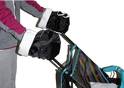 Zicac-Baby-Pushchair-Pram-Stroller-Hand-Warmer-Mitts-Gloves-Handmuffs-Black