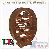 3legno Cantinetta In Legno Cantinella Botte 18 Posti Porta Bottiglie Vino Made In Italy