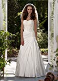 SAMPLE: Strapless A-Line Satin Wedding Dress with Dropped Waist Style AI10042930