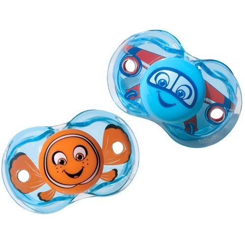 RazBaby - Keep-It-Kleen Pacifier Bundle, Fish/Air - 1