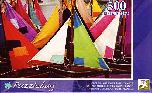 Colorful Sailboats, Paris, France - 500 Piece Puzzle