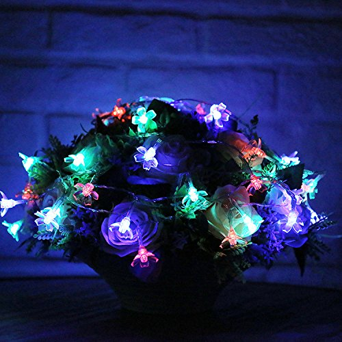 OldShark® 50 LED 22ft Solar Fairy Lights String Blossom Flower Decorative Light for Gardens Lawn Patio Christmas Trees Wedding Parties Indoor and Outdoor Multi Color