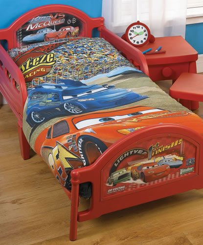 Disney Cars Junior Toddler Bed and Mattress