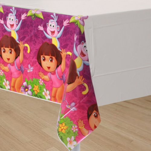 Dora the Explorer 'Flower Adventure' Plastic Table Cover (1ct)