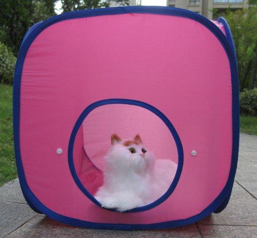 Portable Foldable Pink Cat Castle Tent front-1062722