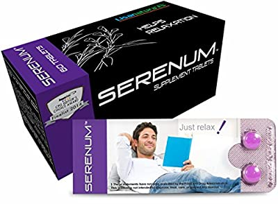 Serenum: Feel Calm & Grounded. Natural Anxiety Relief & Stress Tablets, . Herbal Supplement for Relaxation & Emotional Balance, Anti-Stress, Anti-Anxiety (60 Small, Easy-to-Swallow Vegetarian Tablets)