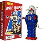 Robby the Robot Space Trooper Tin Toy Windup Blue