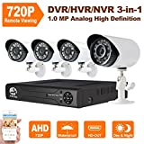 JOOAN TC-404AHD-4A 4CH AHD 720P 1.0 Megapixel analog CCTV Cameras Surveillance Security Camera System with Good Night Vision