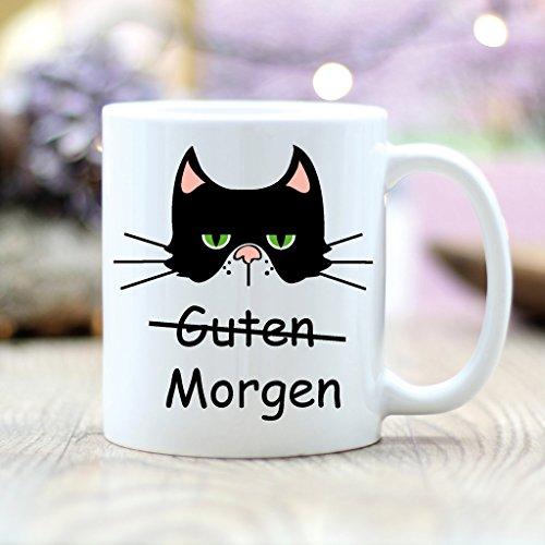 wandtattoo loft bedruckte keramiktasse spruch guten morgen mit einer katze grimmig cat. Black Bedroom Furniture Sets. Home Design Ideas