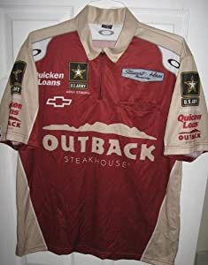 Authentic Outback Steakhouse Nascar Race Stewart Pit Crew Shirt Oakley by Oakley
