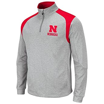 NCAA Nebraska Cornhuskers Mens Frost 1 4 Zip Fleece Sweatshirt by Colosseum