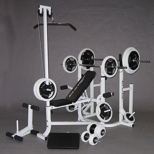 マルチトレーニングジムセット 黒ラバー100kg