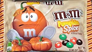 M&M's Pumpkin Spice Flavored Chocolate Candies, 9.90 oz. bag (Pack of 4)