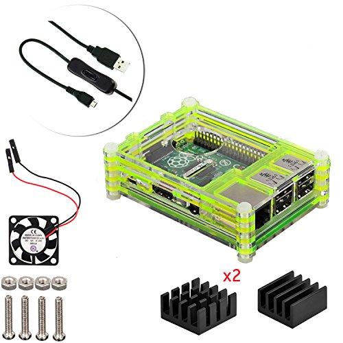 4-en-1-kit-profesional-para-raspberry-pi-3-raspberry-pi-modelo-b-2-negras-en-rodajas-9-capas-caja-de