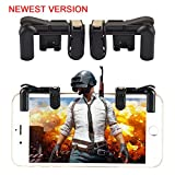 Mobile Game Controller(Newest Version),Teepao Sensitive Gaming Induction Shoot And Aim Buttons For PUBG/Knives Out/Rules of Survival/Fortnite/Survivor/Royale,Shooting Game Auxiliary Tool (Black) (Color: Black)