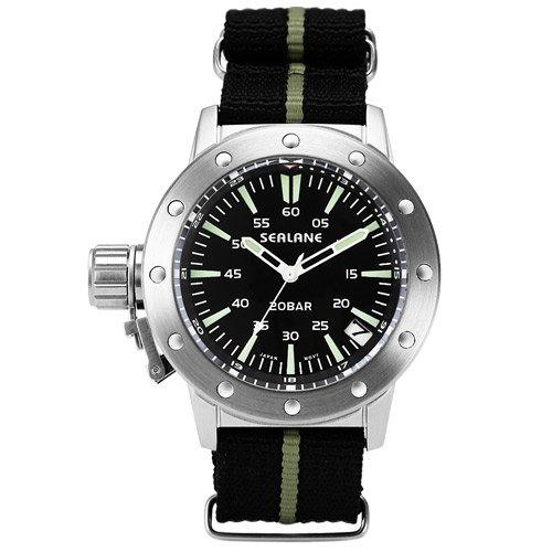 [シーレーン]SEALANE 腕時計 20BAR N夜光 SE42-NYBK メンズ