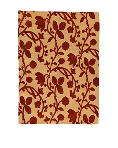 Design Community By Loomier Teppich Nepal 100K rot/beige