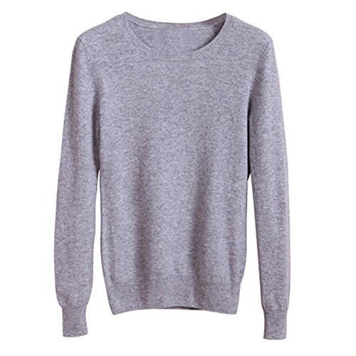Knitted Sweater Top For Women Pullover Solid Autumn Female (Medium, CDG5)
