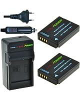 ChiliPower DMW-BCG10, DMW-BCG10E, DMW-BCG10PP Kit; 2x Batterie (1000mAh) + Chargeur pour Panasonic Lumix DMC-3D1, DMC-TZ6, DMC-TZ7, DMC-TZ8, DMC-TZ10, DMC-TZ18, DMC-TZ19, DMC-TZ20, DMC-TZ25, DMC-TZ30, DMC-TZ35, DMC-ZR1, DMC-ZR3, DMC-ZS1, DMC-ZS3, DMC-ZS5, DMC-ZS6, DMC-ZS7, DMC-ZS8, DMC-ZS9, DMC-ZS10, DMC-ZS15, DMC-ZS19, DMC-ZS20, DMC-ZS25, DMC-ZX1, DMC-ZX3