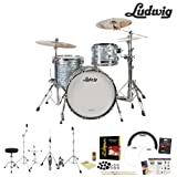 Ludwig USA Classic Maple 3 Pc Drum Kit in Sky Blue Pearl (L8303AX52WC) Includes: Zildjian ZBTX390 Cy