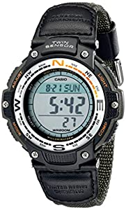 Casio Men's SGW100B-3V Digital Compass Twin Sensor Green Nylon Band Sport Watch