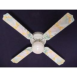 Ceiling Fan Designers Ceiling Fan, Tinkerbell Fairy Green, 42\
