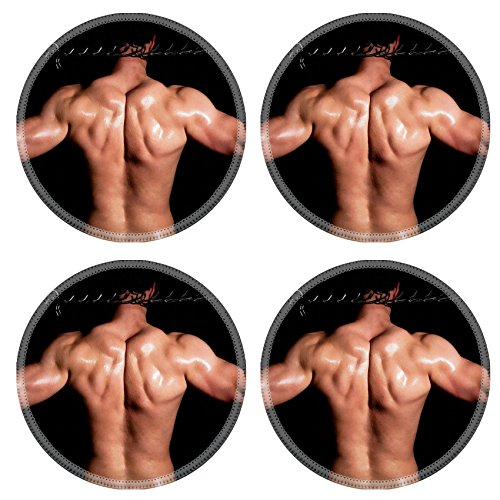 Liili Natural Rubber Round Coasters IMAGE ID: 13156698 Fashionable muscular man in a fashion pose with chain (Macho Man Resin compare prices)