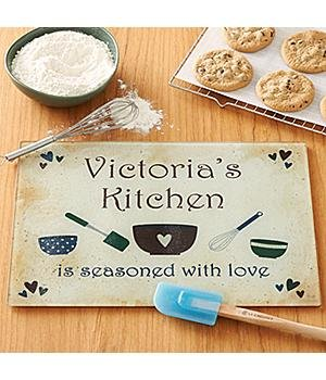 Personalized Seasoned with Love Cutting Board Cutting Board Seasoned