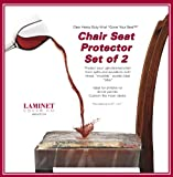 "Clear Vinyl Chair Protectors - Set of 2 (Clear) Fits Chairs up to 21"" x 21"" (Actual Size 26"" X 25 3/4"")"