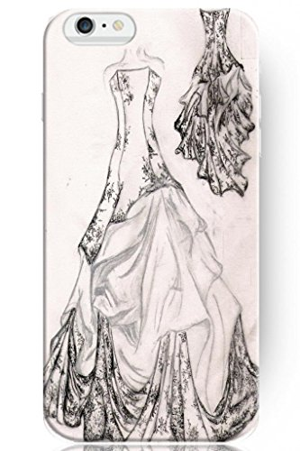 Sprawl Love Melody Design Hard Plastic Case Cover For Iphone 6 Plus (5.5'') -- Black White Wedding Dress