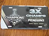 Pittsburgh Penguins 3 X Stanley Cup Champions License Plate at Amazon.com