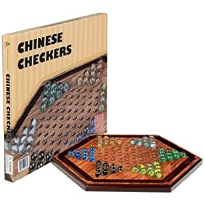 Wooden Chinese Checkers Game - 11.75""
