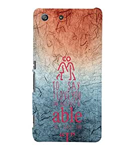 EPICCASE red and blue Mobile Back Case Cover For Sony Xperia M5 (Designer Case)