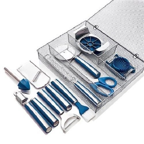 Blue Wolfgang Puck 11-Piece Complete Kitchen Tool Kit