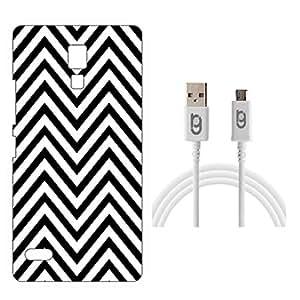 Designer Hard Back Case for Xiaomi Redmi Note Prime with 1.5m Micro USB Cable