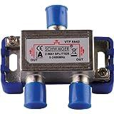 Schwaiger VTF8842241 High-End-Verteiler 2-fach für BK- und GA-Anlagen (110 dB)