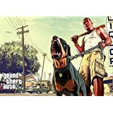 Gta 5 Game A4 NON TEARABLE High Quality Printed Poster Wall Art - 8.27 × 11.69 Inch