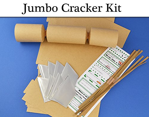 8-jumbo-natural-kraft-make-fill-your-own-cracker-making-craft-kit