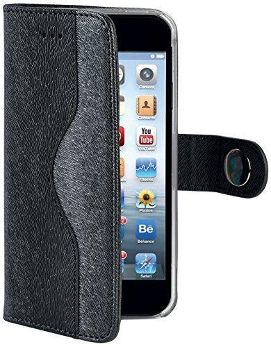 Celly Custodia a Portafoglio Onda per iPhone 6, Nero