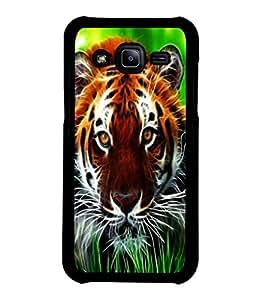 printtech Tiger Eyes Look Grass Back Case Cover for Samsung Galaxy J2::Samsung Galaxy J2 J200F